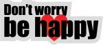 "T-skjortemotiv ""Don't worry"" - for kunde"