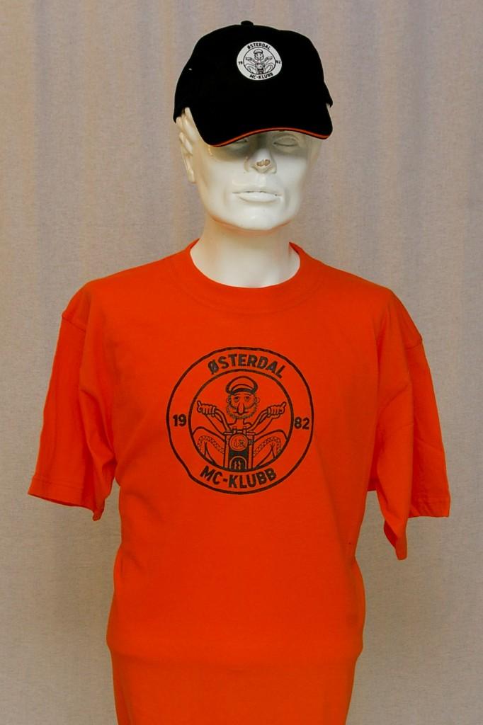 Østerdal MC-Klubbs t-skjorte og cap